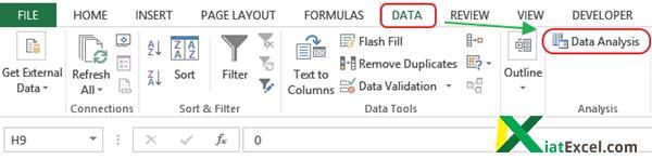 statistik tools excel untuk analisis data