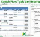 contoh pivot table dari beberapa sheet