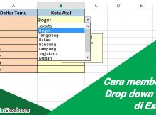 cara membuat drop down list di excel
