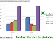 chart hasil filter data dari pivot table