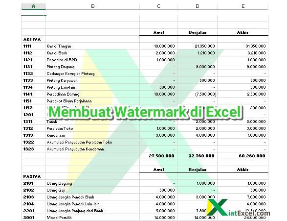 Cara Membuat Watermark Di Excel Bentuk Tulisan Atau Logo