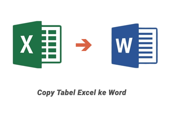 copy tabel excel ke word