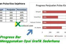 cara membuat progress bar di excel dengan grafik sederhana
