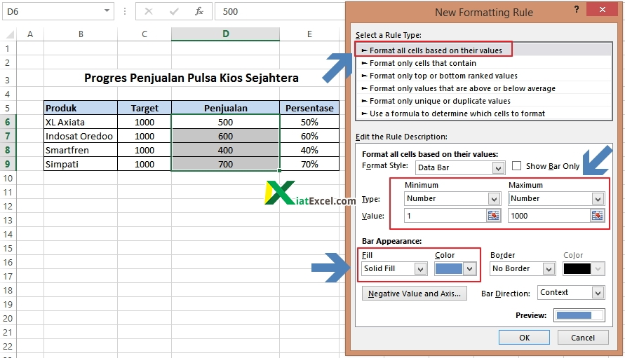 setting opsi formating rule