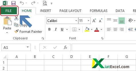 buka menu file untuk membuka pengaturan Add Ins