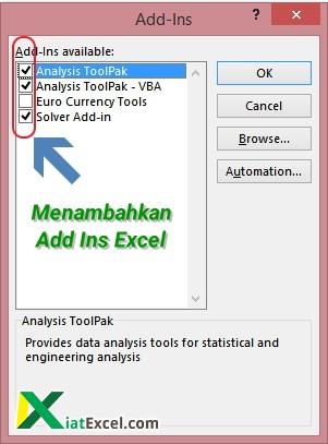 menambahkan Add Ins Excel