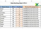 cara membuat ranking di excel