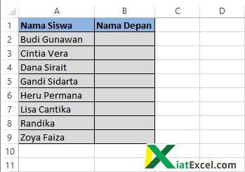 data nama depan siswa