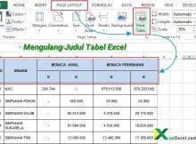 mengulang judul tabel excel