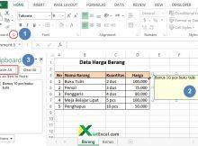 cara copy data dari sel excel ke edit komentar